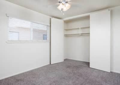 Large closet in an apartment at Lakewood Manor
