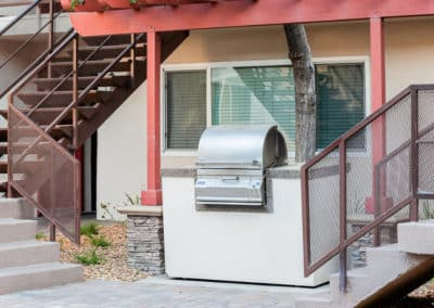 BBQ grills in every courtyard at Lakewood Manor